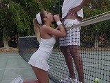 Big Black Tennis Coach